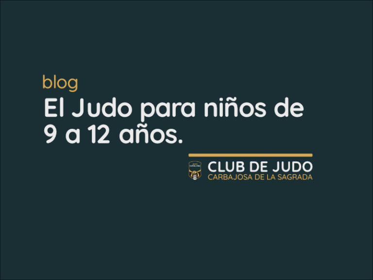 El Judo para niños de 9 a 12 años