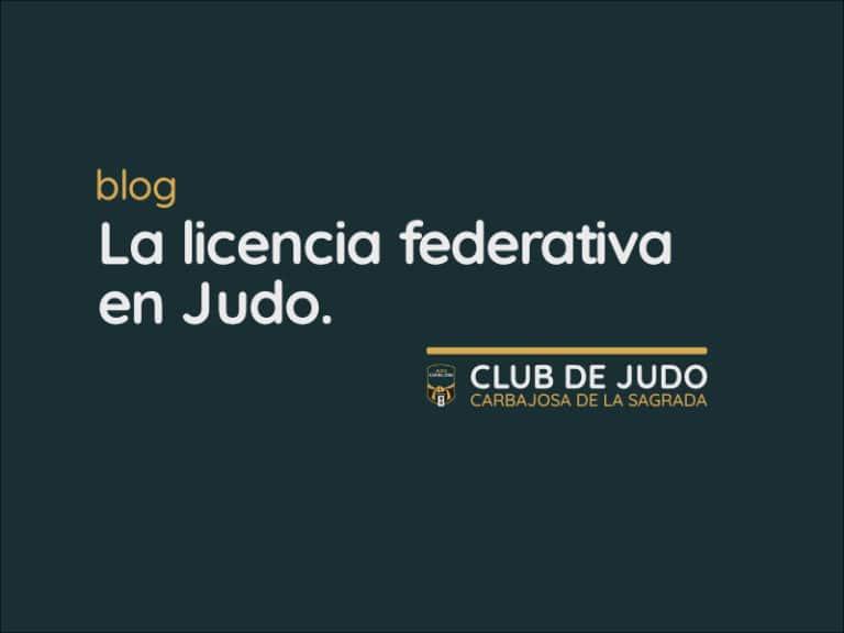La licencia federativa en Judo