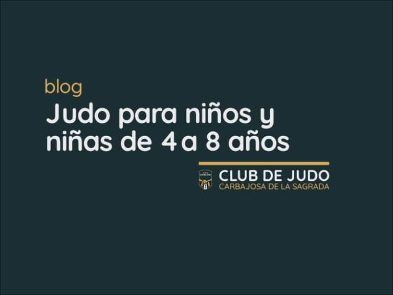 Judo para niños y niñas de 4 a 8 años