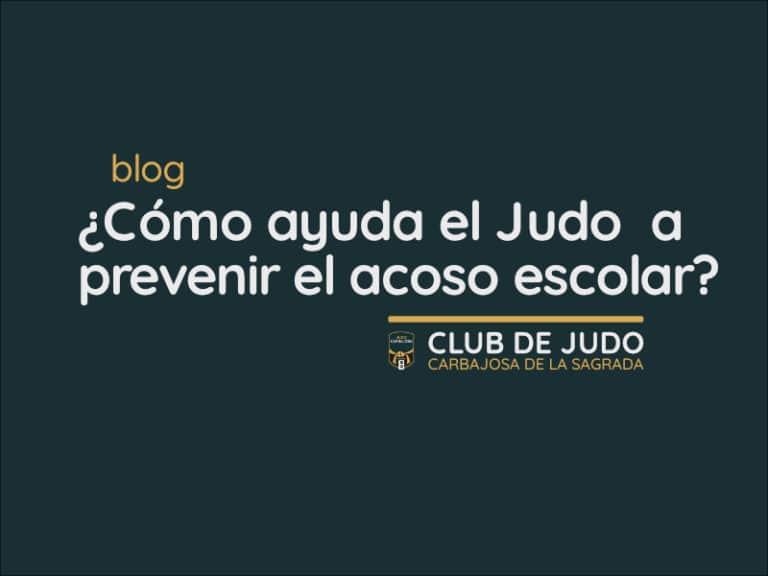 El Judo y el acoso escolar